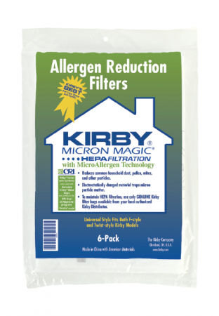 kirby allergen reduction filters stofzuigerzakken